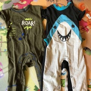 Cat and jack baby boy rompers